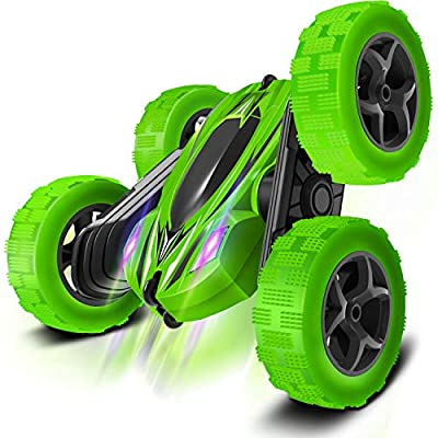 Boy-Toys-Remote-Control-Car-RC-Cars: Transform Stunt Trucks with 4 Battery 2.4GHz Controller and 4 WD, Double Rotating Vehicles 360° Flips, Kids Birthday Gifts for Age 5 and Up Year Old Boys & Girls