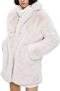 Piel Sintética de Conejo Abrigos Mujer Invierno Aesthetic Vintage Pelo Chaqueta Ropa Cárdigan Oversize Talla Grande