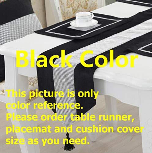 EDCV Home tafelkleed Moderne Doek Voor Hotel Bruiloft Kersttaart Rode Champagne Bloemen Flanel Tafelkleed Tafelloper, zwarte kleur
