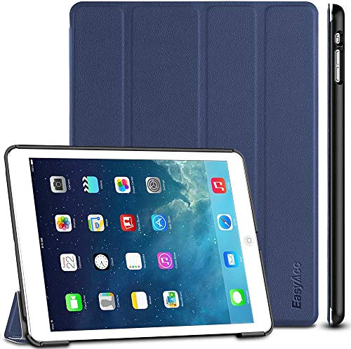 EasyAcc Hülle Kompatibel mit iPad Air, Ultra Slim Hülle Case Schutzhülle PU Lederhülle mit Standfunktion/Auto Sleep Wake Up Funktion Kompatibel mit iPad Air 2013 (A1474 A1475 A1476) - Dunkelblau