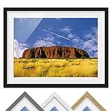 Bild mit Rahmen - Uluru - Rahmenfarbe Schwarz, 30 x 40 cm