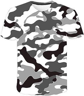 Camiseta para Hombre Moda para Hombre Deportes Fitness 23 Camuflaje Camisa 3DT de Manga Corta Camisa para camuflaje-TXA106...