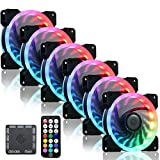 cheap gaming fan, Ubanner Wireless RGB LED 120mm Case Fans with Controller