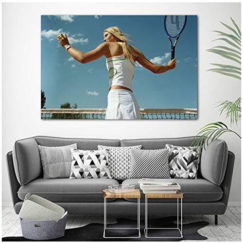 A&D Leinwandbilder Sport Maria Sharapova Tennis Promi Poster und Drucke Wandkunst für Wohnzimmer Dekor -60x90cmx1pcs- Kein Rahmen