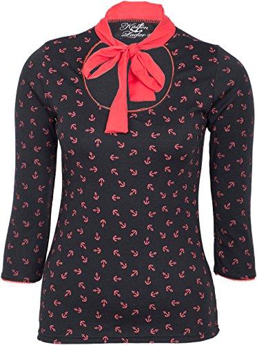 Küstenluder Damen Oberteil Teisha Anker Shirt Schwarz XL