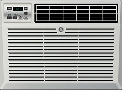 "GE AEM08LX 19"" Window Air Conditioner with 8000 Cooling BTU, Energy Star Qualified in Light Cool Gray"