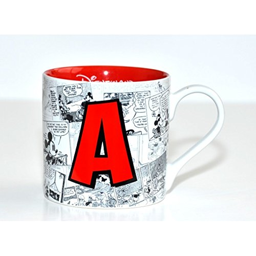 Disneyland Paris Mickey Mouse Comic-Style Print Mug with Letter A