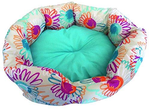 CROCI Sofa Ovale en Tissu Polycoton pour Chien/Chat 80 x 66 x 19 cm