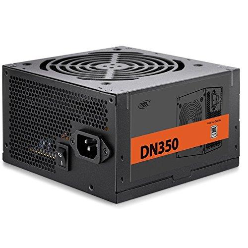 Deepcool DN350 350W Alimentatore Atx Pc Desktop da Gaming 350 Watt 80 Plus 230V EU con Ventola PWM da 120 mm PFC Attivo