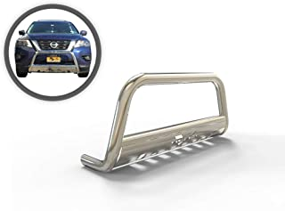 VANGUARD VGUBG-0904-1161SS Multi-fit Bumper Guard Stainless Steel Bull Bar with Skid Plate