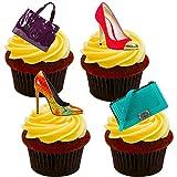 Bolsos y zaptos de azúcarpara decorar tartas, obleas que se tienen en pie, 12 unidades