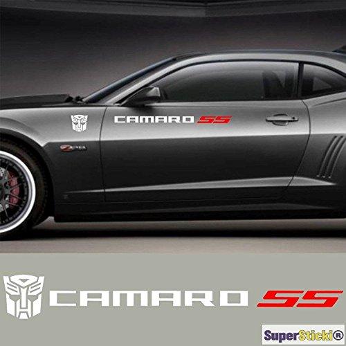 SUPERSTICKI 2X Camaro SS mit Logo für Aufkleber Schweller Autoaufkleber Tuning ca 30 cm Hobby Deko