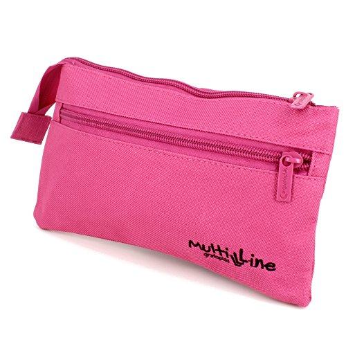 Grafoplás 37541754-Estuche escolar plano Multiline color rosa