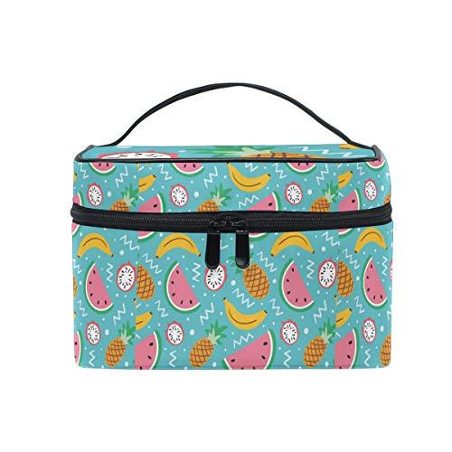 Tropische Früchte Ananas Wassermolon Kosmetiktasche für Frauen Schminktasche Große Mädchen Damen...