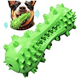Rosmax Dog Cleaning Stick Chew Toy, Dog Toys, Squeaky Dog Chew Toothbrush Toys Natural Rubber Dental Care Chewing Cleaning Stick for Small Medium Dogs (Green)