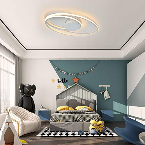 Moderne LED Deckenbeleuchte 58 cm 30 Watt Lampe Warmweiß für Wohnzimmer Kinderzimmer Schlafzimmer Esszimmer Küche