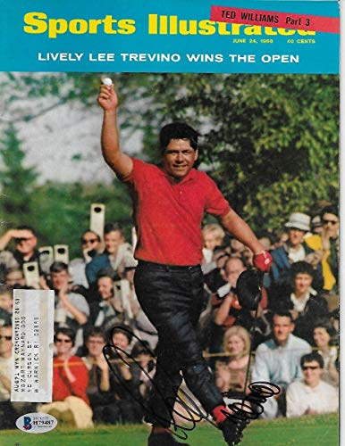 Lee Trevino Autographed Golf Sports Illustrated 6/24/68 Beckett Authenticated - Autographed Golf Equipment