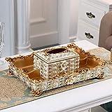 Tenedor de la caja de tejido Patrón en relieve Caja de pañuelos Cuatro Placa de fruta secada de la rejilla Hogar de lujo con incrustaciones de diamantes de vida de diamantes de imitación Café de la me