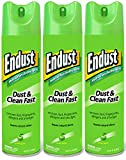 Endust Multi-Surface Dusting and Cleaning Spray, Green Apple, 3 Count