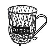 Hamaio Dispensador Capsulas Café, Soporte Capsulas Dolce Gusto, Cesta De Almacenamiento De Cápsulas De Café, Accesorios De Café, Negro
