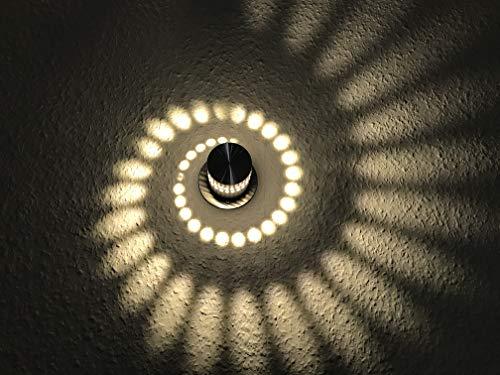 Lámpara de pared LED circular de 24 V, color plateado, para, por ejemplo, Loxone, FHEM, KNX