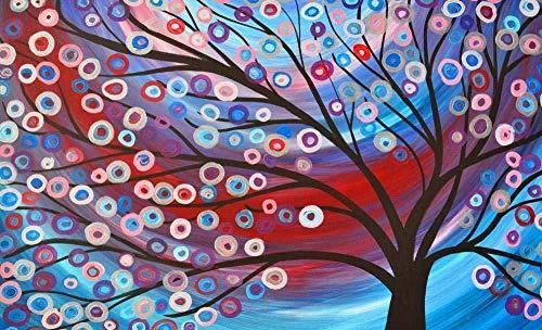 ygghj Malen nach Anzahl Kit, DIY Ölgemälde Zeichnung Reflexion Bunte Leinwand mit Pinsel Dekor Dekorationen Geschenke -lila Fahrrad und Lavendel