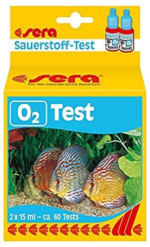 sera 04914 Sauerstoff Test (O2), Wassertest für ca. 60 Messungen, misst zuverlässig und genau den Sauerstoffgehalt, für Süßwasser, im Aquarium oder Teich