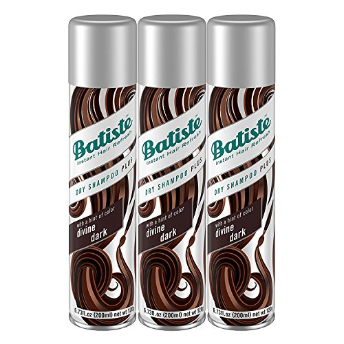 Batiste Dry Shampoo, Divine Dark, 6.73 fl. oz. (Pack of 3)