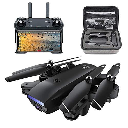 Drone GPS con videocamera 4K HD per adulti, Quadricottero con videocamera grandangolare regolabile, Drone pieghevole video live 5G WiFi 400M, Ritorno a casa GPS, Seguimi, Quadricottero drone per pri