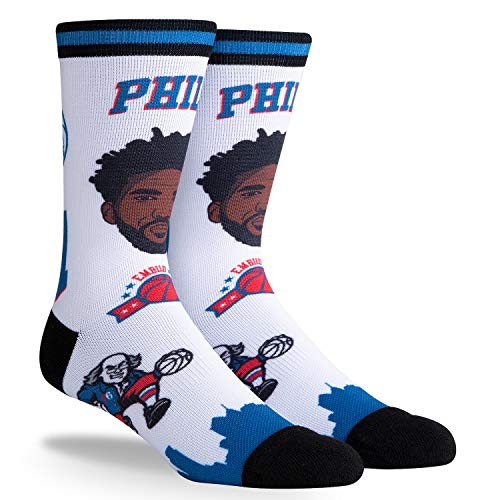 PKWY Joel Embiid Philadelphia 76ers #21 Unisex 1-Pack NBA Pins Player Socks (Large)