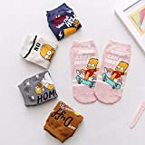 MIWNXM 10 Paare Fashion Cute Cartoon Simpson Boat Socks Funny Dog Cat Kawaii Animal Woman Short Socks Happy Girl Ankle Socks