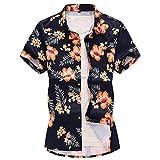 Camisas de Manga Corta para Hombre, Camisas de Cuello Vuelto Transpirables Ligeras con Estampado de Pintura en Tinta de Estilo Chino XX-Large