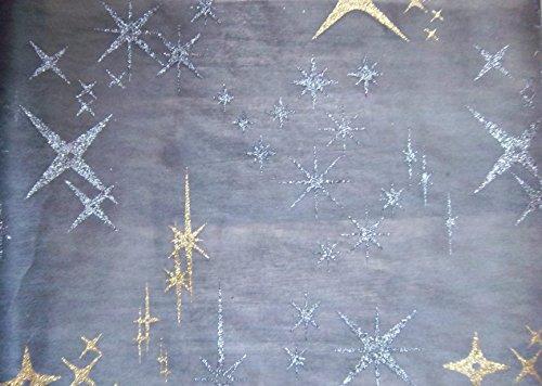 Sachsen Versand 5 Meter Nr.1 Tischläufer-Deco-Band Mittel-Decke Weihnachten Sterne Merry Christmas