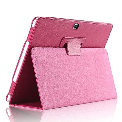 Hoesje voor Samsung Galaxy Tab 4 10.1inch SM-T530 T535 T533 Tab4 10 T530 T531 T535 Tablet Case Beugel flip PU Lederen Cover T530 T531 T535 roos