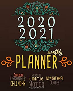 2020-2021 Monthly Planner: Blue Sky 8x10inch 2 Years Monthly Planner Calendar Schedule Organizer From January 1,2020 to December 31,2021 (24 Months ... With Holidays and Motivational Quotes