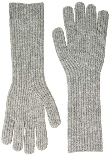 ONLY Damen ONLTESSIE KNIT RIB GLOVES LONG Winter-Handschuhe, Light Grey Melange, ONE SIZE