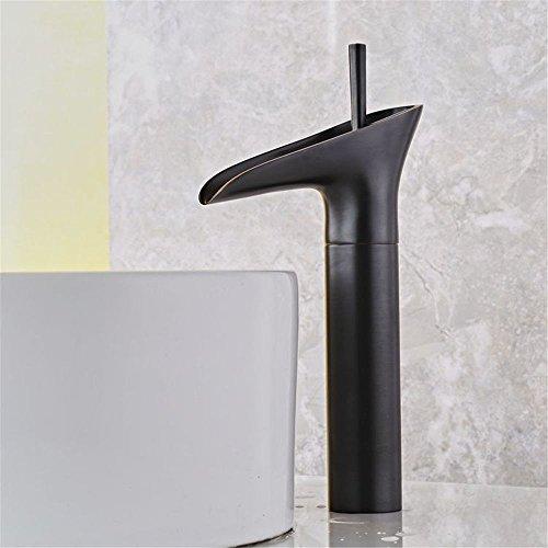 QIMEIM - Grifo mezclador para lavabo, de latón antiguo y caliente
