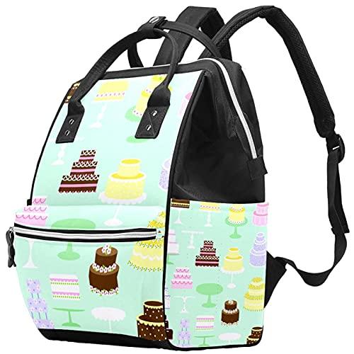 WJJSXKA Mochilas Bolsa de pañales Laptop Notebook Mochila Viaje Senderismo Daypack para Mujeres Hombres - Tortas Clip Art