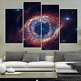 SKVT 4 Unids/Set Extracto Grande El Helix Nebula Impresión de la Lona Pintura Moderna Naturaleza Muerta Ojo de Dios Imagen de Arte de Pared decoración para el hogar