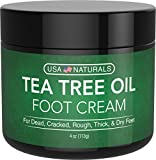 Tea Tree Oil Foot Cream - Instantly Hydrates and Moisturizes Cracked or Callused Feet - Rapid Relief Heel...