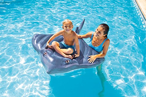 Intex Stingray Ride-On Inflatable Swimming Pool Beach Float Toy...