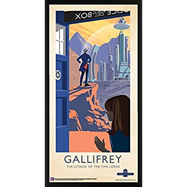 Doctor Who Gallifrey Citadel of the Time Lords Illustration Sci Fi British TV Television Show Print (Framed 12x24 Poster)