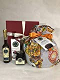 Confezione Natalizia Panettone artigianale al cioccolato + Liquore 10 cl al cioccolato + Cioccolata di Modica + Confettura di gelsi idea regalo natale cesta Antica Sicilia