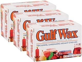 Gulf Wax Household Paraffin Wax 1 Pound Bars (3 Packs)