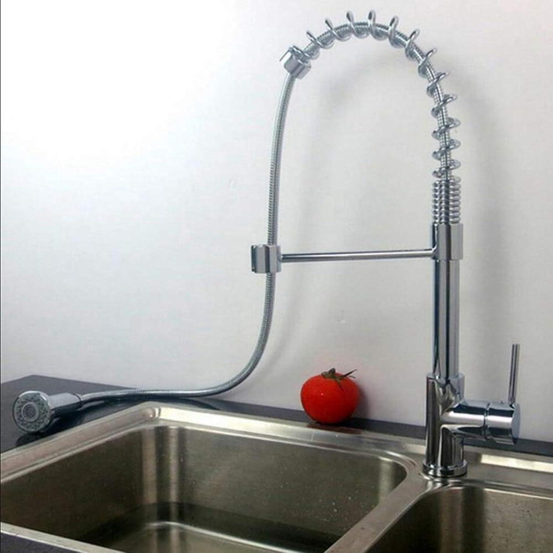 Kupfer hei und kalt Ein-Loch-Rotation angezogen werden, ziehen Sie die Küchenspüle Becken Frühling Spüle Wasserhahn