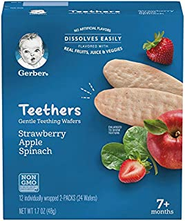 Gerber Teethers, Strawberry Apple Spinach, 24 Count per box, 1.7 Ounce