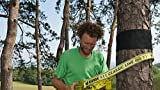 Gibbon Slacklines Treewear, Baumschutz, schwarzer Filz mit Klettverschluss mit gelbem Logo, Länge: 100 cm, Breite: 16 cm, Schutz für Band und Baum, S - 5