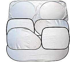 Full 6 Pcs Car Windshield Sunshade UV Protector Folding Silvering,Car Window Sun Shade Visor Shield Cover, Sun Shade UV Reflector, Keeps Vehicle Cool, Sun Protection for Baby Auto Car SUV