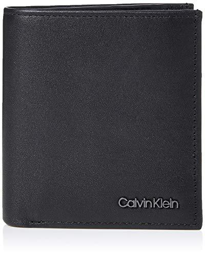 Calvin Klein Trifold 6CC W/Coin, Accesorio Billetera de Viaje para Hombre, Black,...