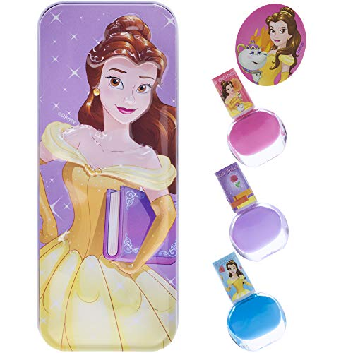Townley Girl Disney Princess Belle Nail Polish with themed Purse, Age 3+ - 3 Pack